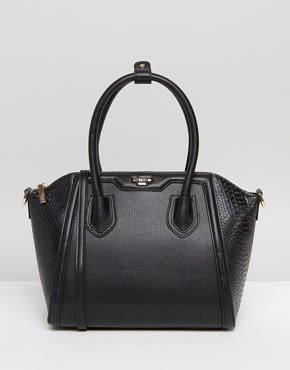 Dune - Strukturierte Tasche mit Umhängegurt - Schwarz