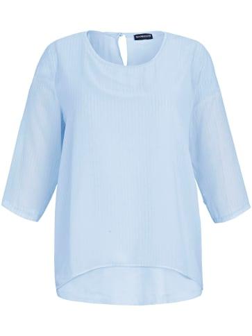 Bluse 3/4-Arm Samoon blau