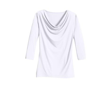 Classic Inspirationen Shirt mit kleinem Wasserfallkragen, weiß, Gr.36-54