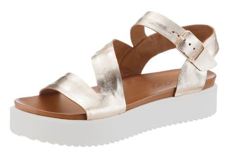 Inuovo Sandale mit trendiger Plateausohle, goldfarben, Gr.36-40
