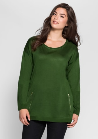 Casual Pullover, tannengrün, Gr.40/42-56/58