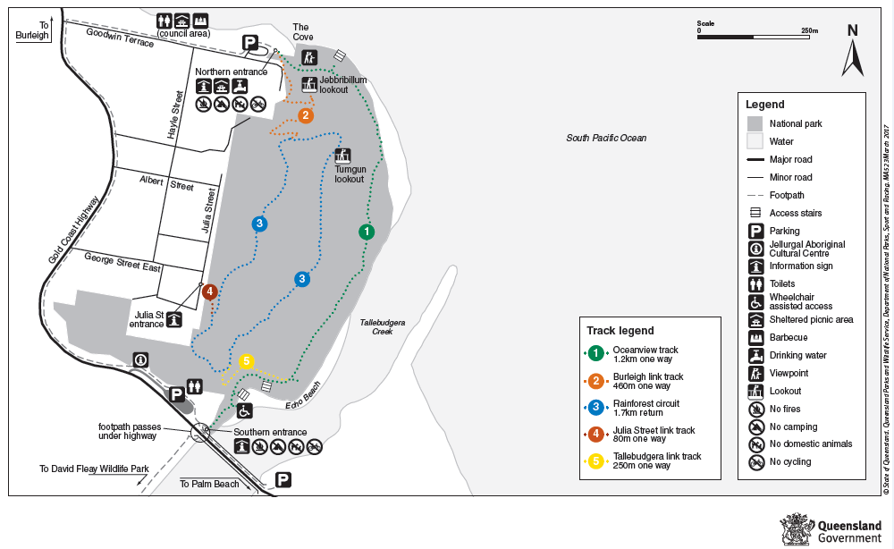 Burleigh heads National Park Walking trail map