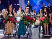 Miss Wheelchair World competition were present on the stage other beautiful beauties