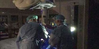 Doctors are doing complex surgeries in mobile lighting