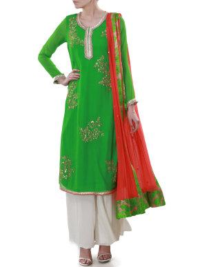 Parrot green suit