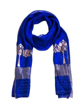 Raw Mango Blue scarf