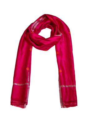 Raw Mango Maroon silk scarf