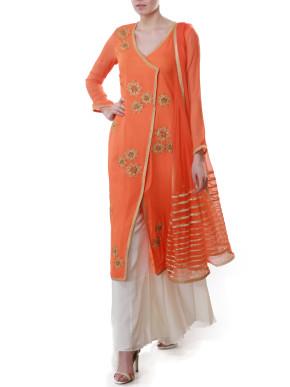 Orange Palazzo Suit