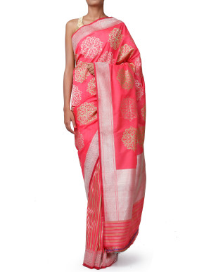 Banarasi Silk Half & Half Saree