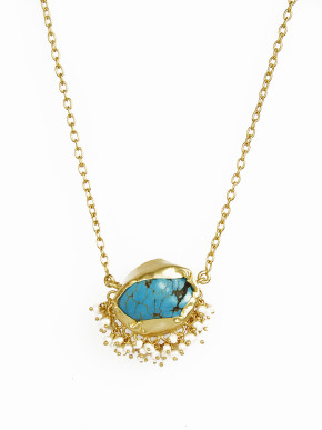 It's a girl thing turquoise necklace