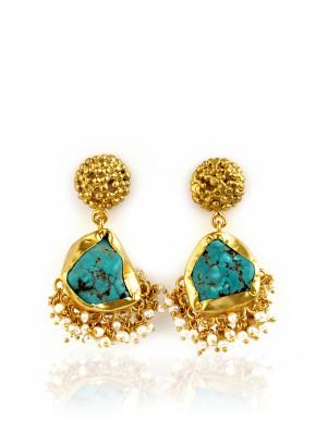 Echoing Art Turquoise Earrings