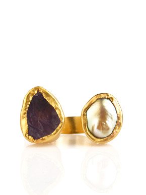 Tale of two stones ring