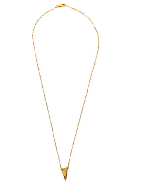 Gold shark tooth pendant