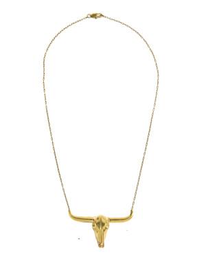 Byson head necklace