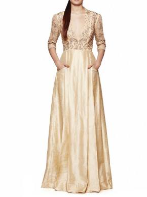 Champagne silk gown
