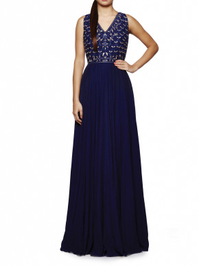 Ink blue Saira gown