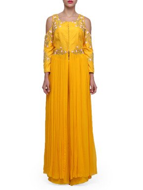 Yellow Palazzo and Kurta Set