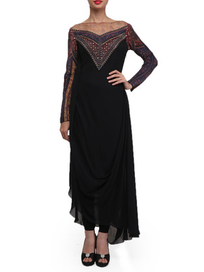 Tarun Tahiliani Long Draped Kurta Set