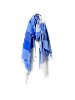 Aish Blue Check Nayak Scarf