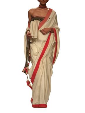 Nikasha Silk Saree and Ruffled Blouse set