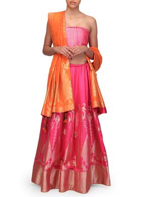 Ekaya Rani Pink Lehenga Set