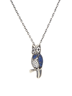 Loupe Owl Silver Pendant