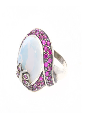 Loupe Euphuisc Silver Ring