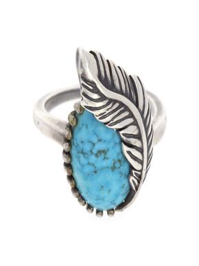 Loupe Turquoise Calamus Ring