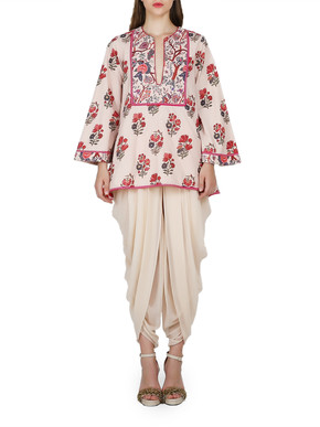 Nikasha Printed Top and Dhoti Pants Set