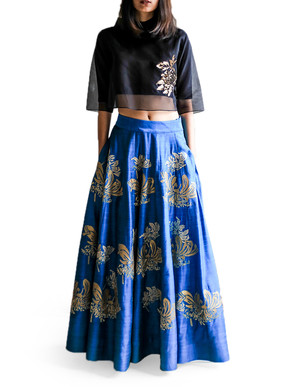 Taika Buttercup Crop Top and Skirt Set
