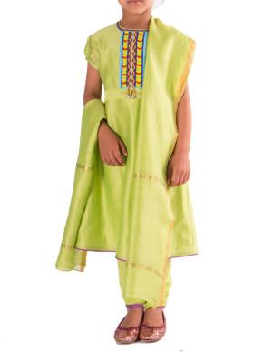 Festivity lime green suit