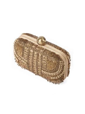 Santi gold box clutch