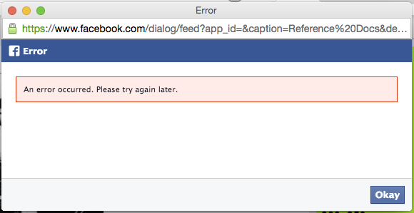 Seriously Facebook!