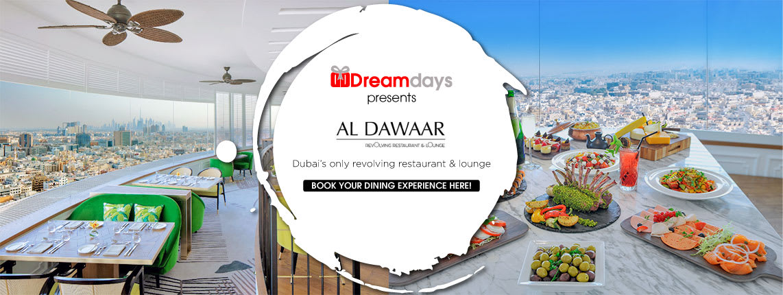 Lunch buffet at Al Dawaar Revolving Restaurant and Lounge