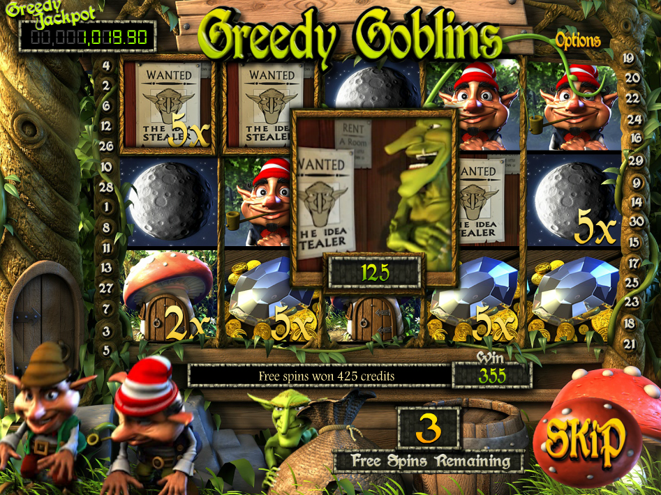 Image of the Betsoft online video slot Greedy Goblins.