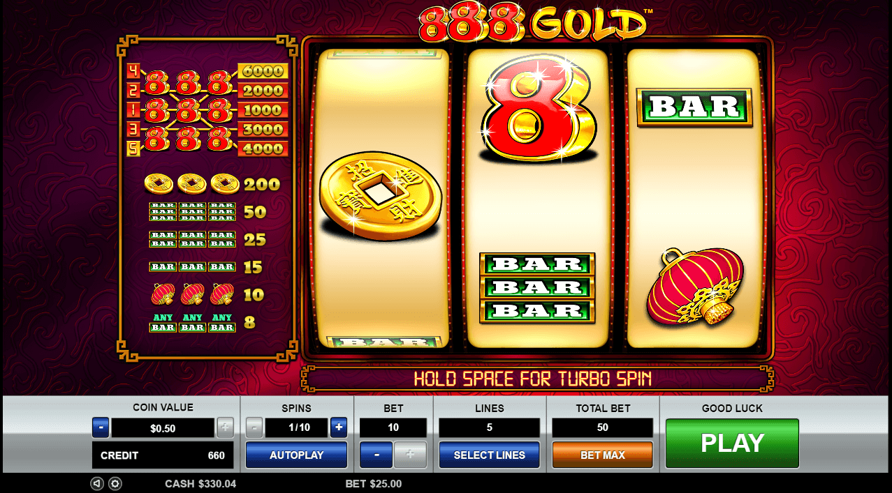 Image featuring online casino slot 888 Gold from Pragmatic Play