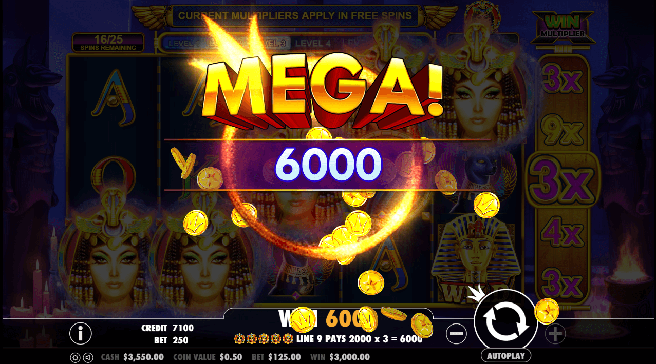 Image featuring online casino slot Queen of Gold from Pragmatic Play