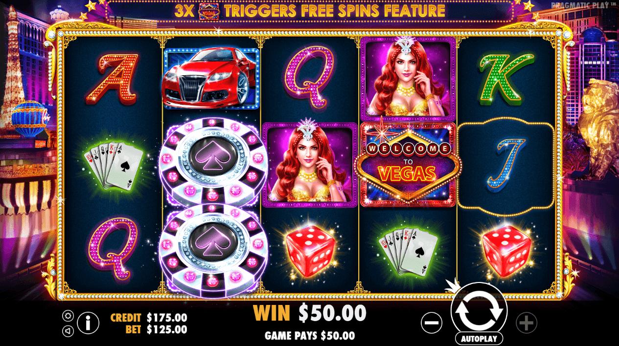 Image featuring online casino slot Vegas Nights from Pragmatic Play