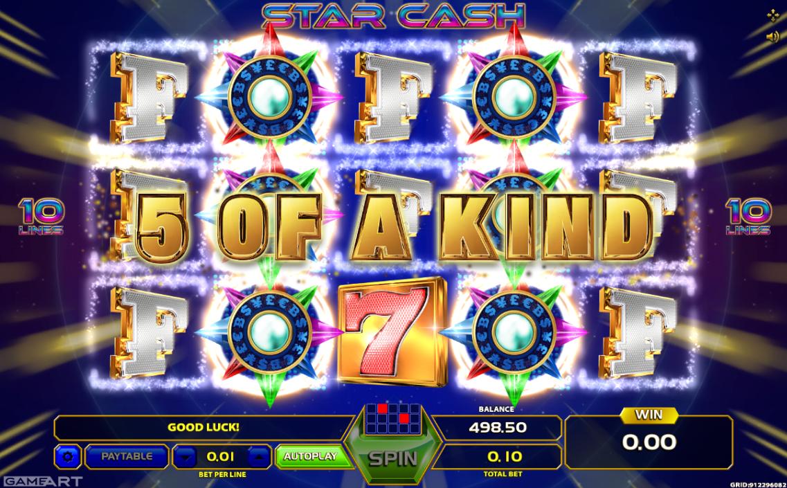 Star Cash online casino slot from GameArt