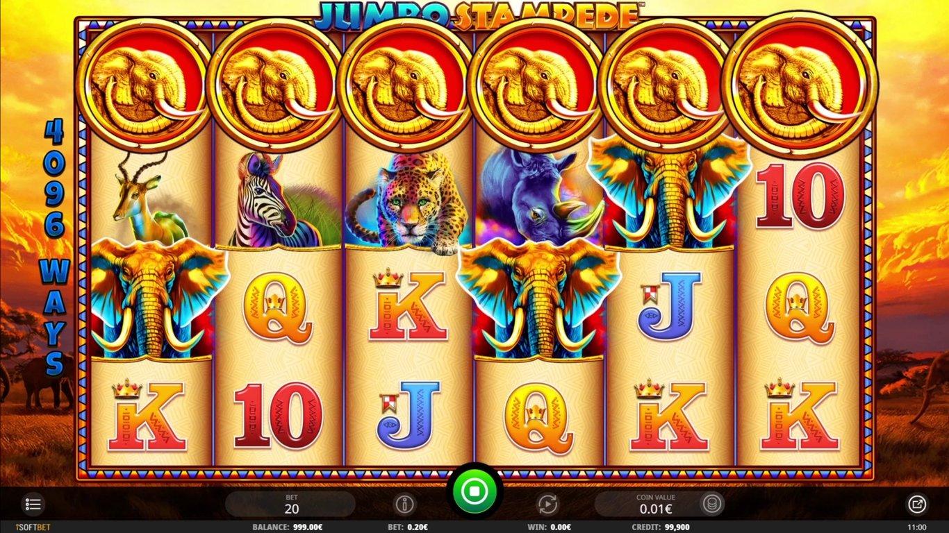 Jumbo Stampede casino slot from iSoftBet