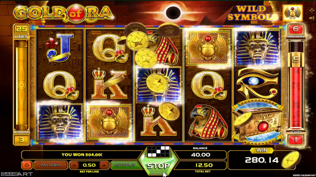 Online Casino Slot Gold Of Ra from GameArt