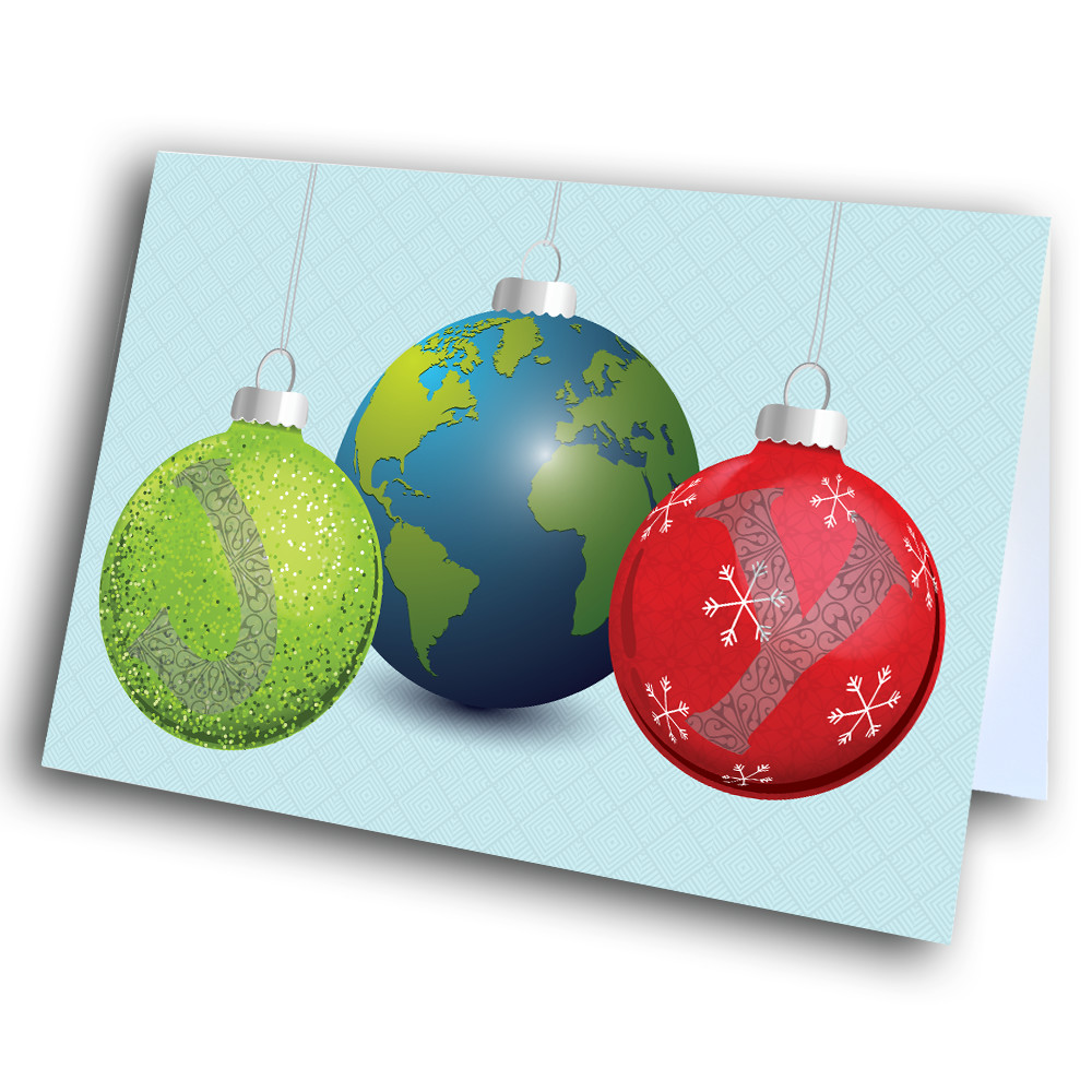 Joy With Christmas Ornaments Greetway Greeting Cards