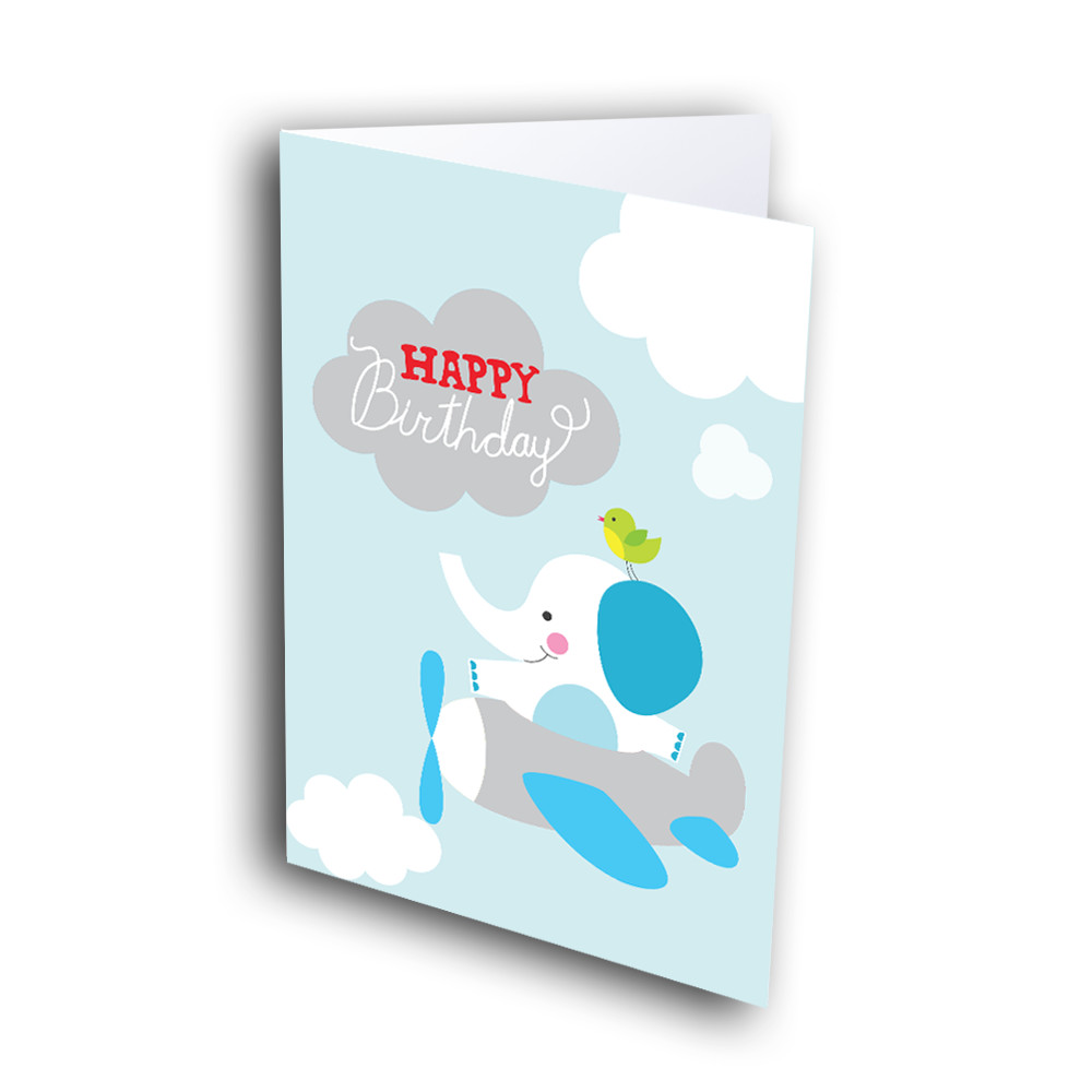 Flying Elephant Birthday Greetway Greeting Cards