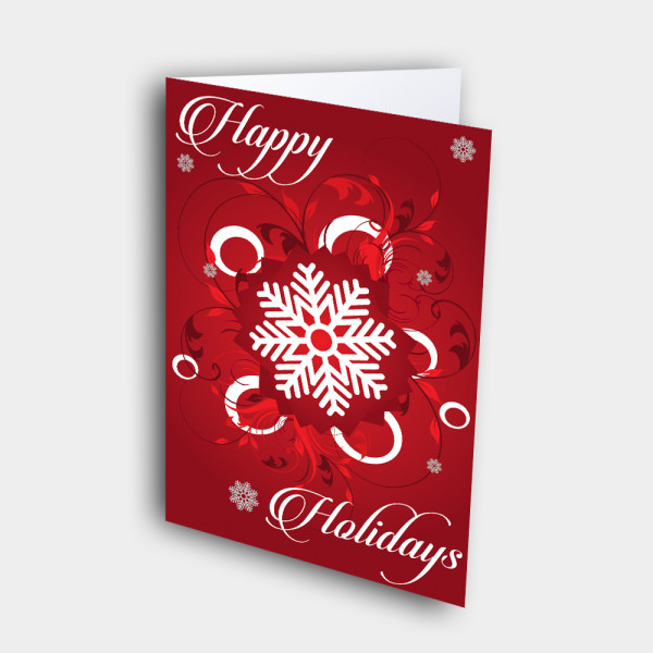 Picture of Happy Holidays Snowflake(RED)