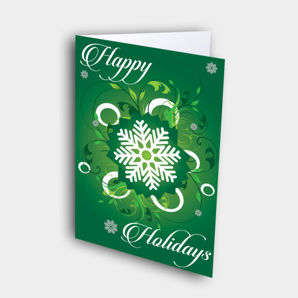 Picture of Happy Holidays Snowflake(GREEN)