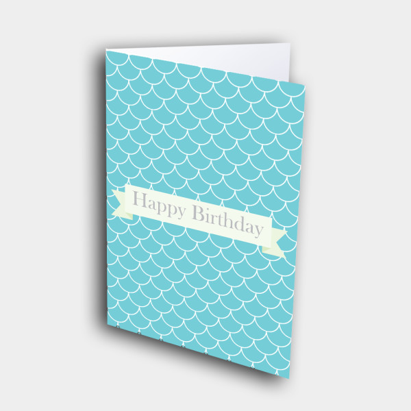 Picture of Teal Drape Pattern Birthday