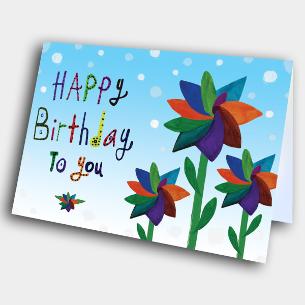 Picture of Windmill Flowers Birthday