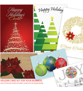 Seasonal holiday greeting cards for your business personalize and picture of assorted holiday cards 10 to local school or charity colourmoves