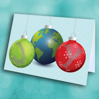 Picture of JOY with Christmas Ornaments
