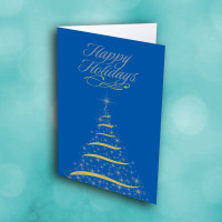Picture of Bright Blue Christmas Tree